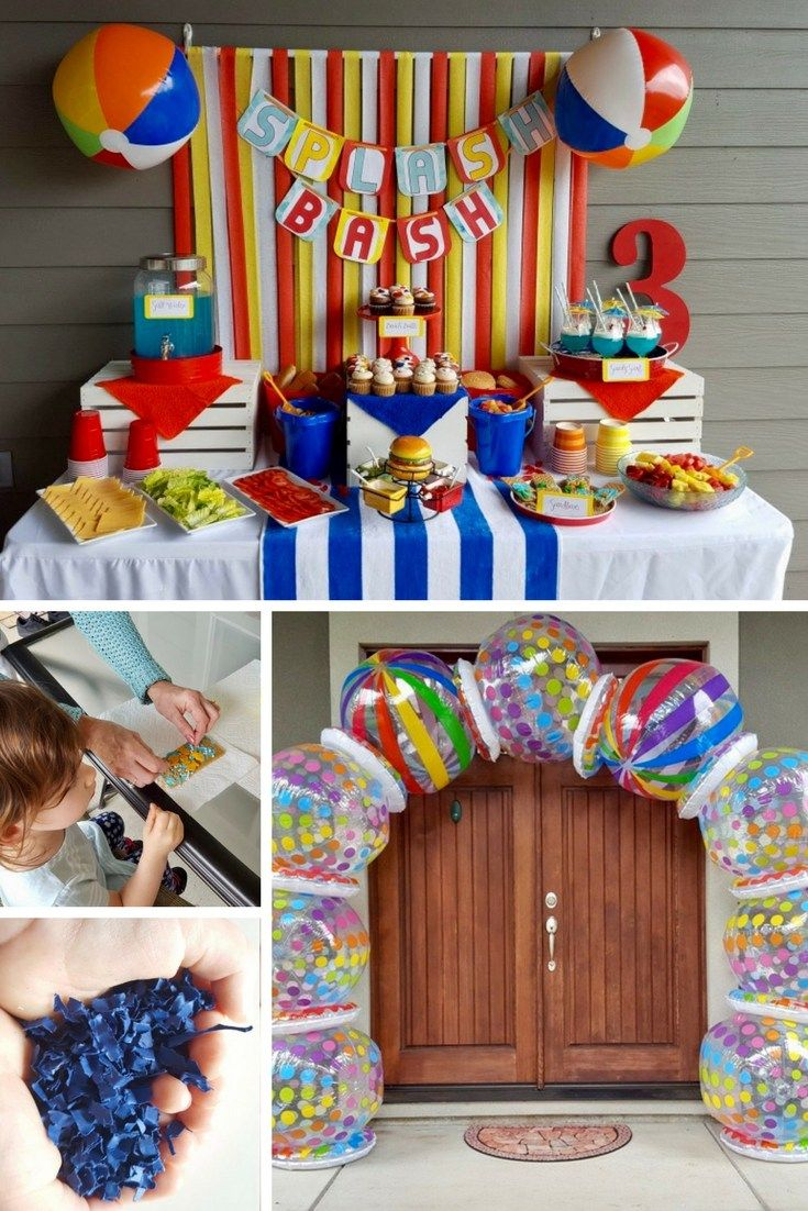 How To Throw A Beach Ball Party Water Birthday Parties Beach
