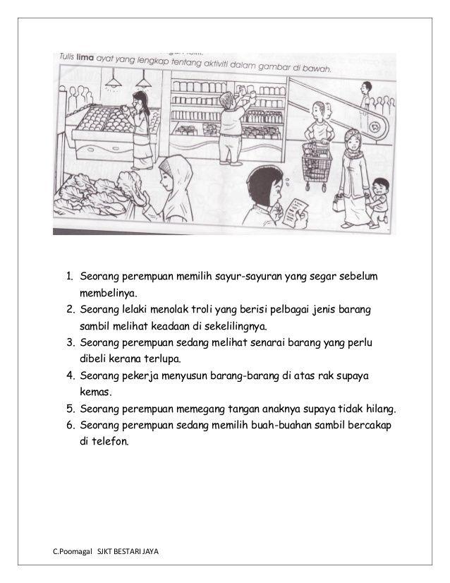 Bina Ayat Berdasarkan Gambar In 2020 Malay Language Picture Comprehension Study Materials