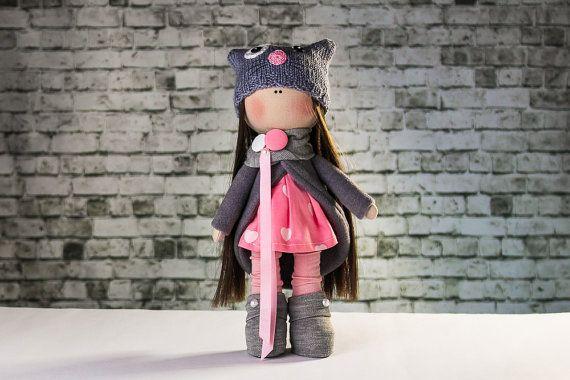 Tilda doll. Doll Ketty.  Textile doll . Soft toy . Cute от OwlsUa
