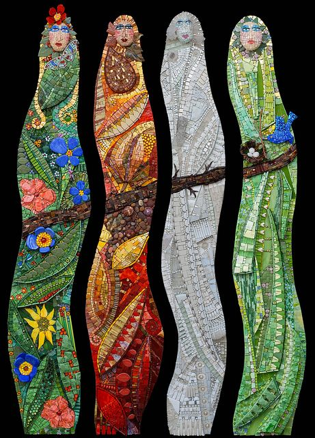 four_seasons by icmosaics, via Flickr  maybe we could do rainforest spirits..or group abstract of some sort...