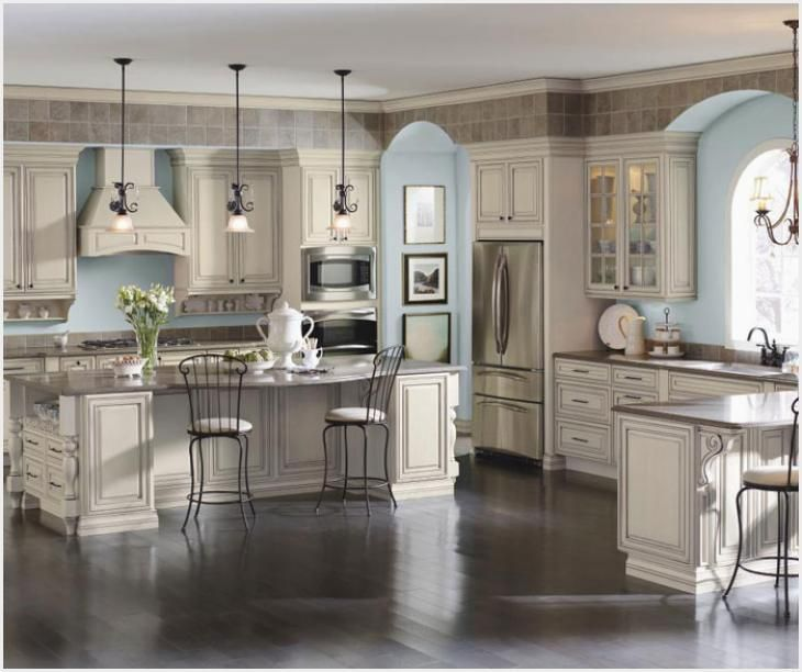 Cream Glazed Kitchen Cabinets Ideas In 2020 French Country
