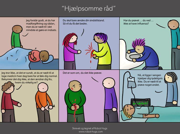 Hemmelig tegneserieforfatter: Drop jeres provokerende råd til psykisk syge | Kultur | DR