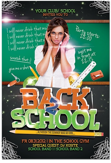 Парти Флаер Back to School - Отново на училище  Back to school party flyer!