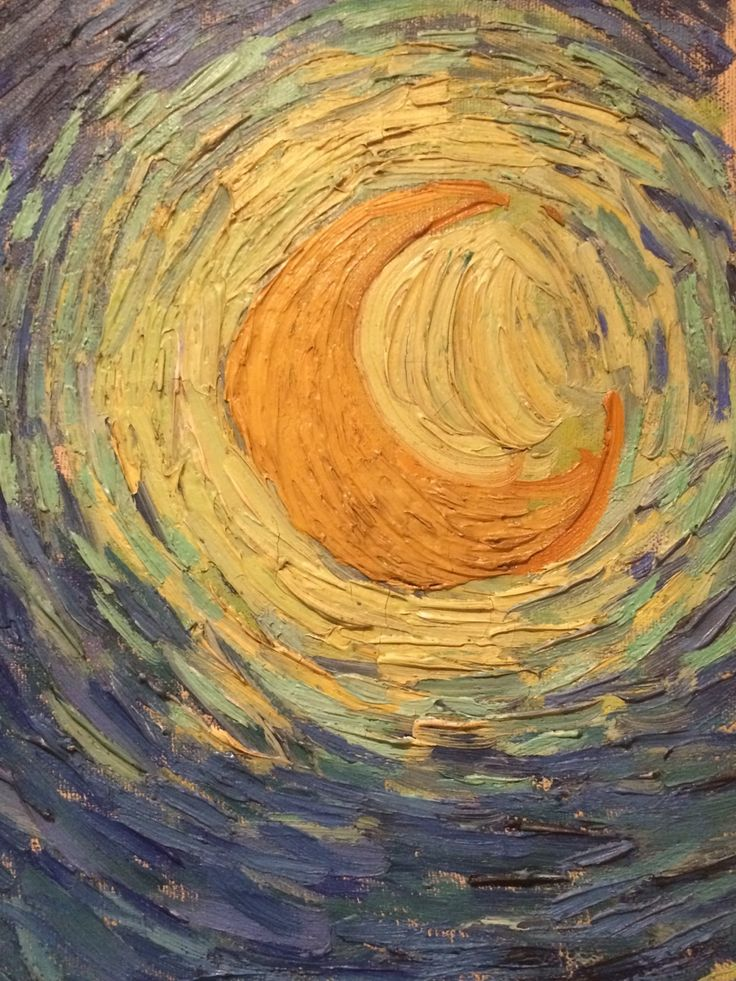 """whorchacha: """" Starry Night (detail) Vincent Van Gogh Oil on canvas, 1889 """""""