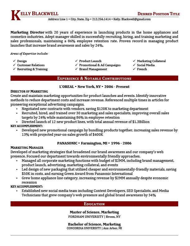 The 25+ best Executive resume template ideas on Pinterest - marketing director resume