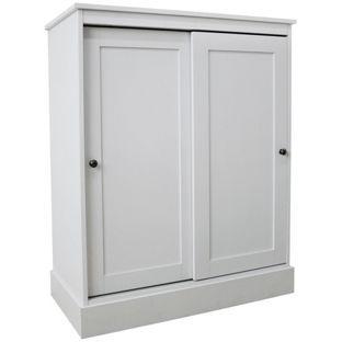 Dover Sliding Door Hallway Unit White Up To 17 Prs H104 5