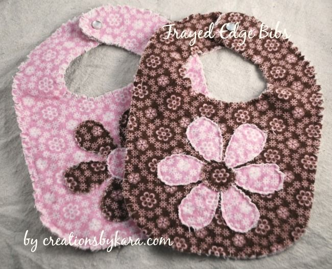 frayed edge bib tutorial by creations by kara