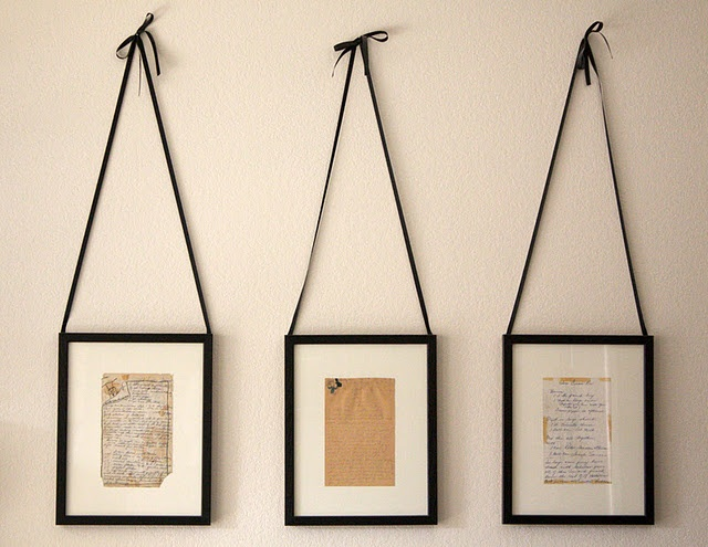 handwritten recipes from grandma. -Color copy & frame to avoid damage from sunlight, then hang in the kitchen.