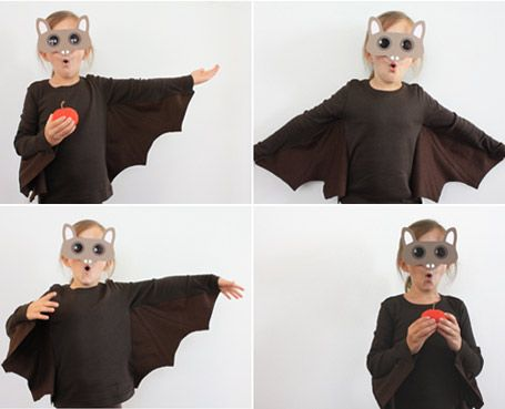 Selbstgemachtes Fledermaus-Kostüm für Kinder