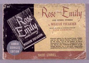 the point of view in a rose for emily a short story by william faulkner In a rose for emily, william faulkner tells the story of an old and lonely lady stuck in her own timeframe her controlling father died some thirty years ago and she has never quite found her own ground her house has become the most hideous looking home on the once most select street in the.