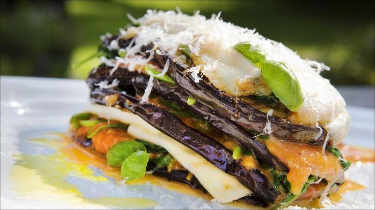 Aubergine lasagne - Godt.no - Finn noe godt å spise