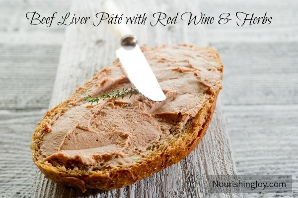 Beef Liver Pate with Red Wine and Herbs from NourishingJoy.com