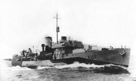 HMCS Naniamo. Thought to be around 1944 - 45.