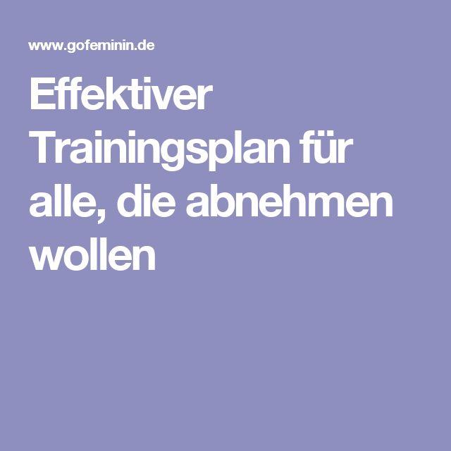 Effektiver Trainingsplan für alle, die abnehmen wollen