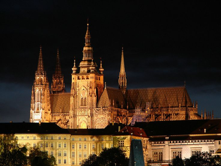 Prague Castle was named the largest ancient castle in the world by the Guinness Book of Records, occupying 70,000 square meters