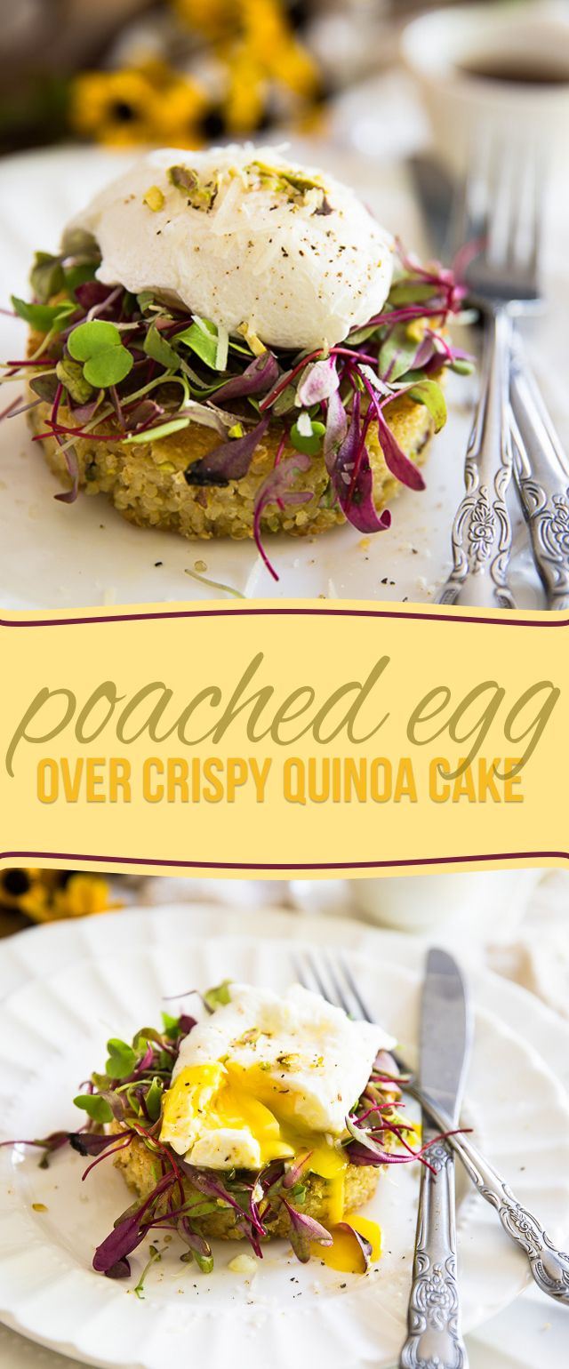 Simple but incredibly elegant, this scrumptious Poached Egg over Crispy Quinoa…