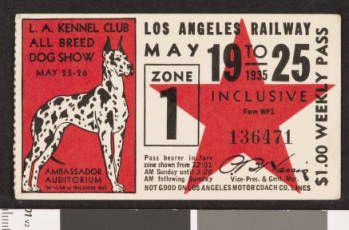 Los Angeles Railway weekly pass, 1935-05-19 :: LA as Subject