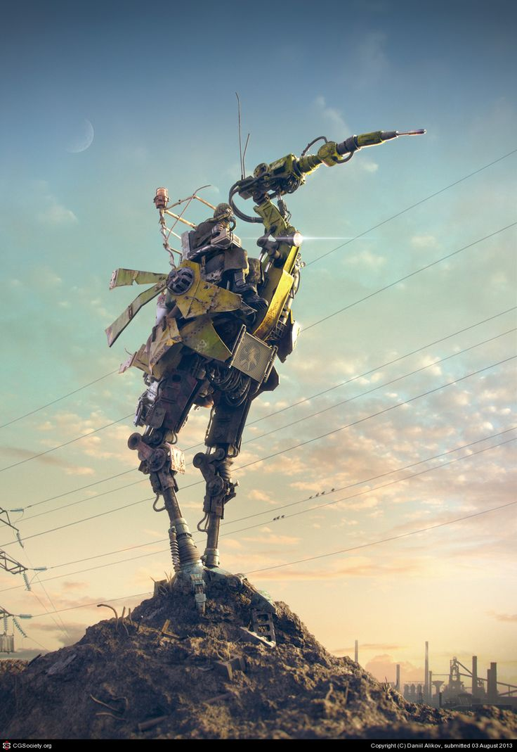 EGR-8 mobile welding machine by Daniil Alikov Walking welding machine operated by human. Made in post-apocalyptic world of near future. Design inspired by nature.