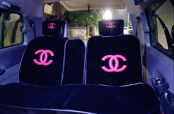 Buy Wholesale Luxury Chanel Universal Automobile Velvet Sheepskin Car Seat Cover Cushion 10pcs Sets - Black+Rose from Chinese Wholesaler - hibay.gd.cn