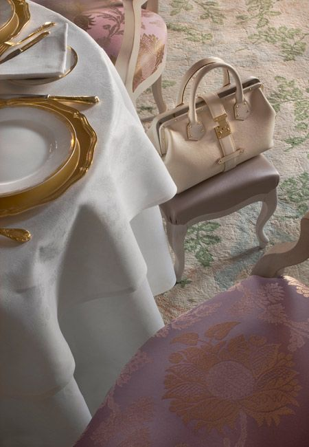 The Louis XV in Monaco, a luxury Michelin 3-star restaurant | Monte-Carlo SBM and a footstool for your bag! Quite right too!