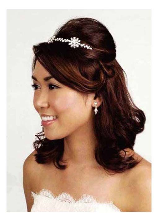 wedding hairstyles for tiaras | Hairstyles, Half Up Tiara Wedding Hairstyles: Hairstyles with tiara