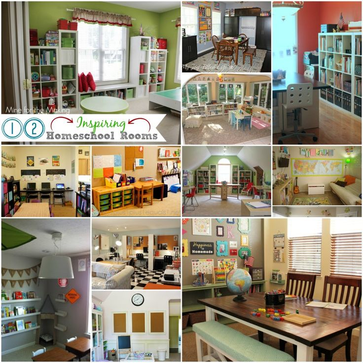 322 best home learning spaces images on pinterest kid for Home school room ideas