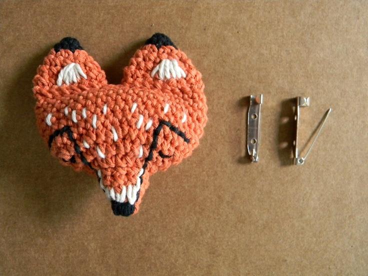 pica-pau: patrón prendedor zorro / fox pin pattern