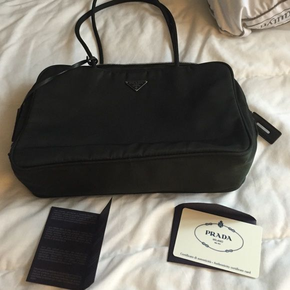Prada purse brand new never worn once with pouch Authentic prada purse measurements 10w 3d 6h Prada Bags Shoulder Bags