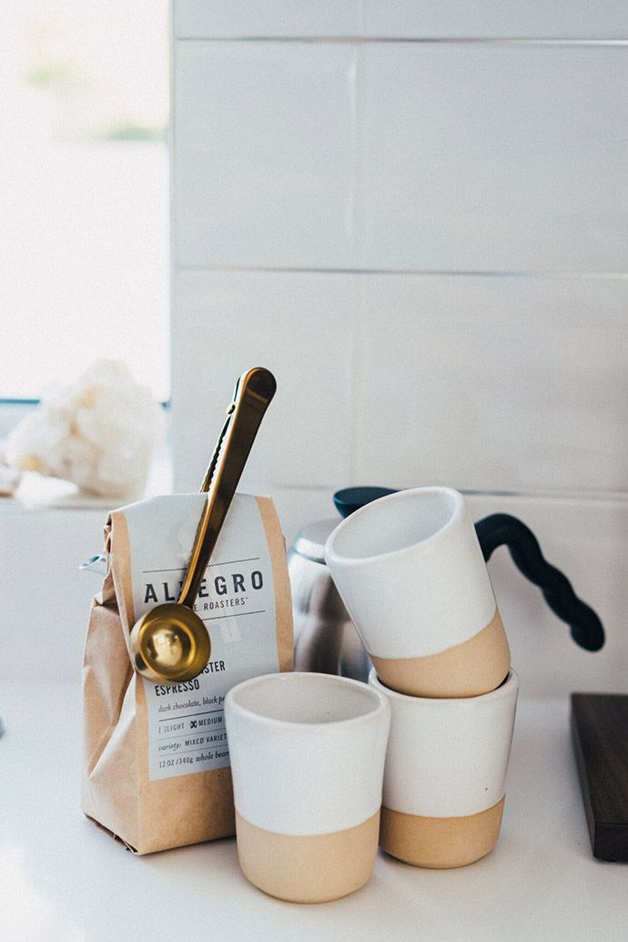 Gold measuring spoon