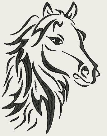 Wild Horse Small - (140 x 140 Hoop) by Judean888 on Etsy