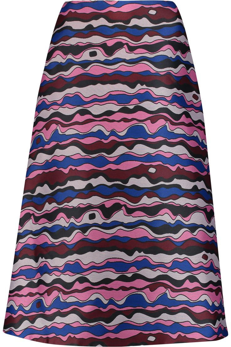 ROKSANDA Viga Satin-Jacquard Midi Skirt. #roksanda #cloth #skirt