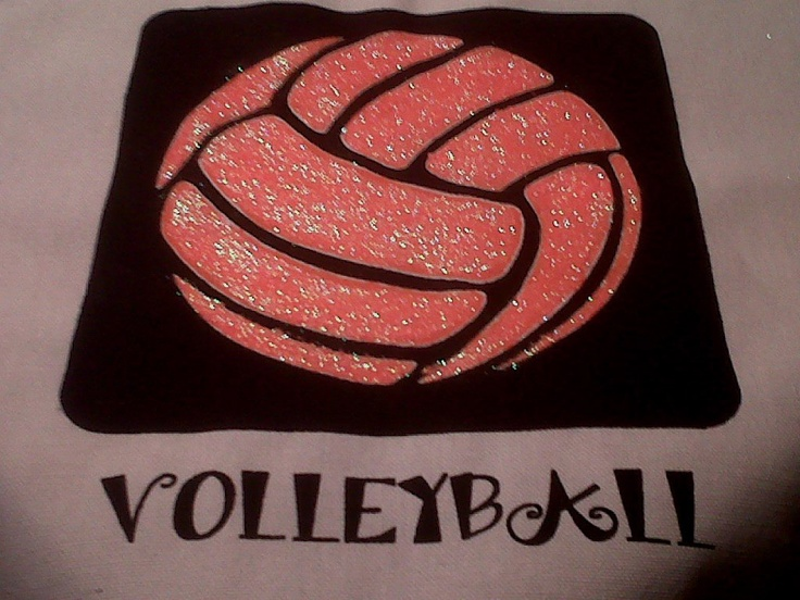 GLITTER VOLLEYBALL Pillow Your Choice Of Color Sports Bedroom Decor