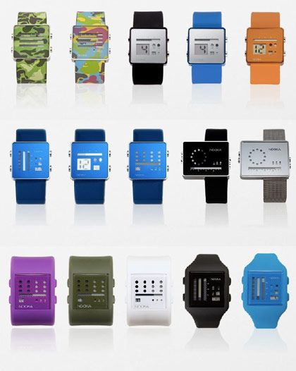 I love these Nooka watches! They are like little bar graphs of time!