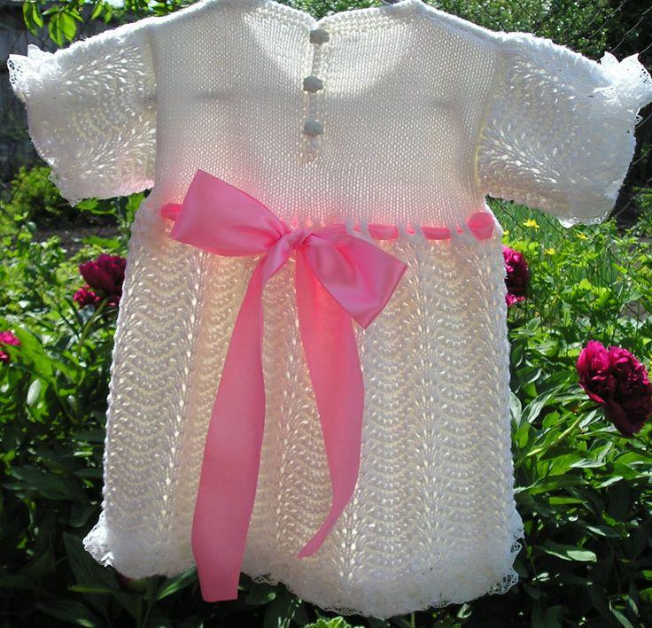 вязаное платье для малышки,вязаное платье для девочки,вязание на заказ,ручная работа
