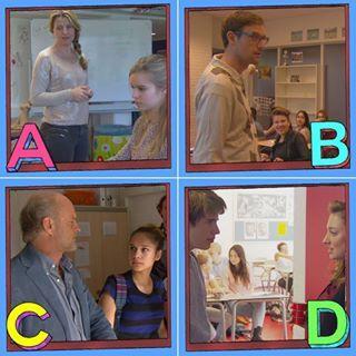 Van welke leraar/ lerares zou jij wel les willen hebben?  A: Handvaardigheid van Steenkamp B: Wiskunde van Grimbergen C: Aardrijkskunde van Van Morselt D: Nederlands van De Hoog