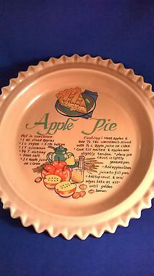 Vintage Ceramic Apple Pie Plate Reciepe Dish with Lid : pies and plates - pezcame.com