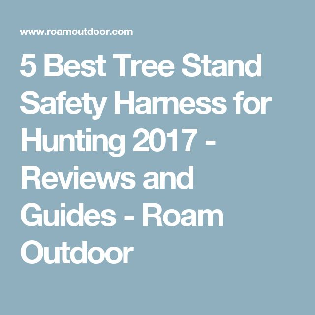 5 Best Tree Stand Safety Harness for Hunting 2017 - Reviews and Guides - Roam Outdoor