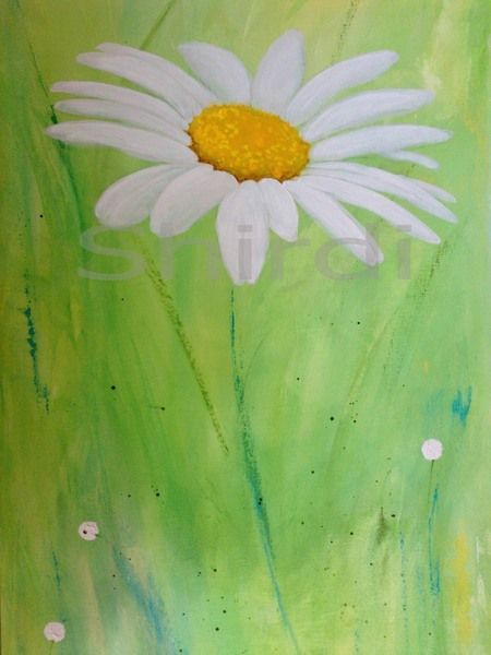 Daisy -Original Acrylic Painting on 100% Cotton Artist Canvas with deep edge!