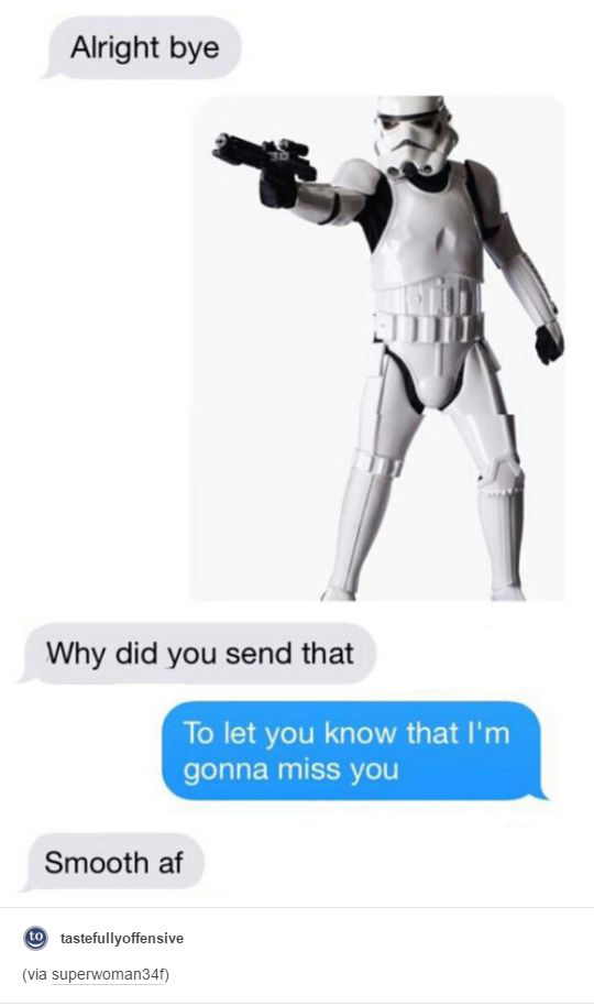 Only real Star Wars fans will understand.