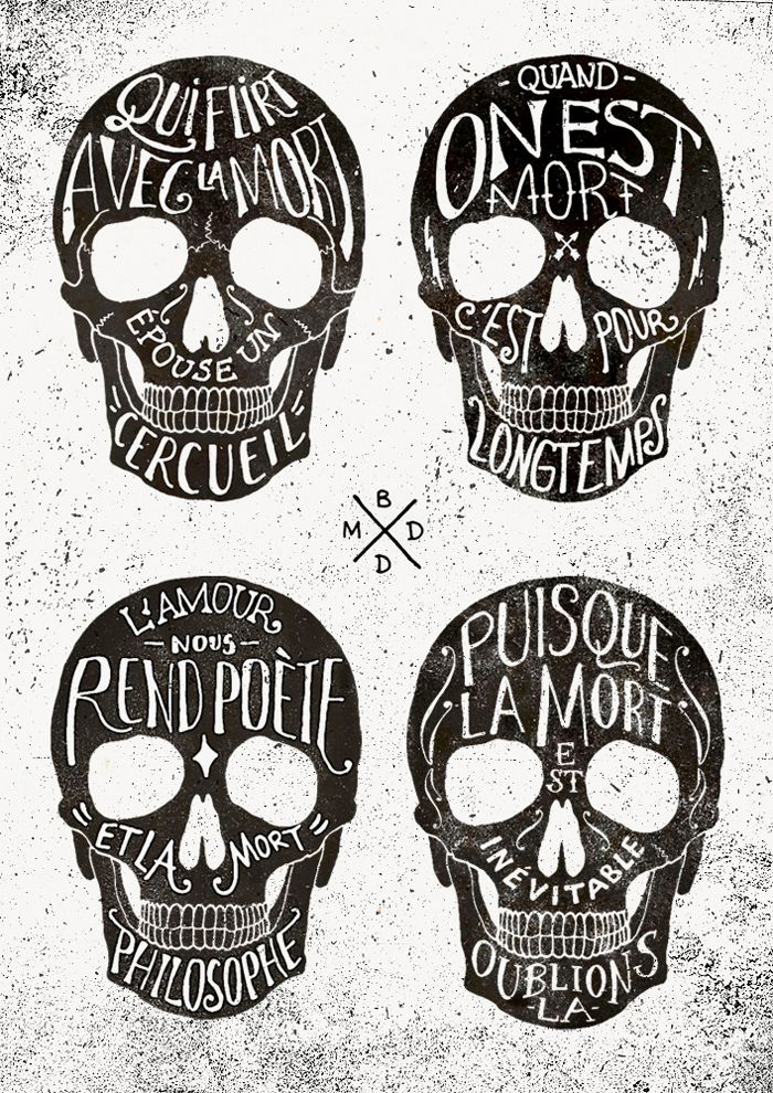 Skulls & Quotes / Bmd Design | AA13 – blog – Inspiration – Design – Architecture – Photographie – Art