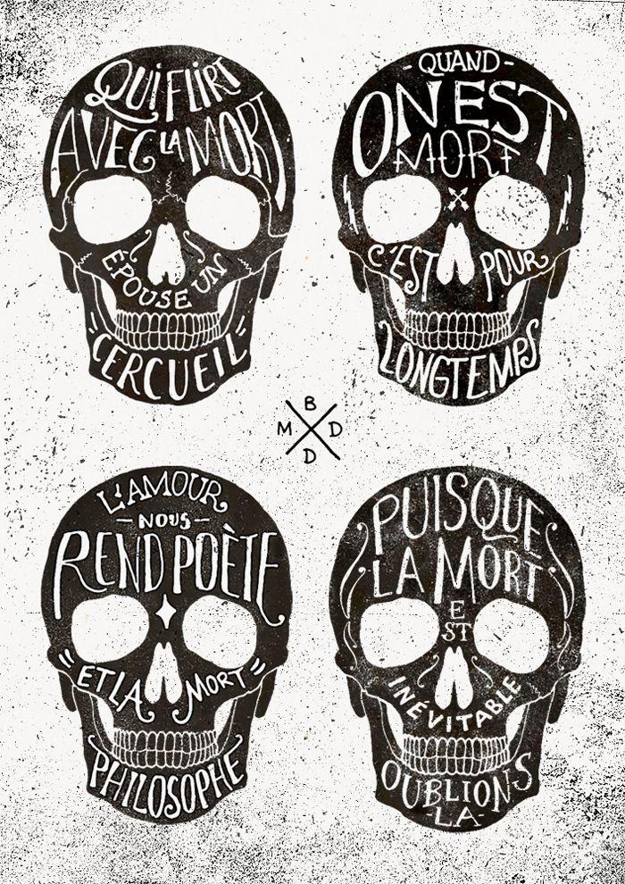 Skulls & Quotes / Bmd Design | AA13 – blog – Inspiration – Design –…