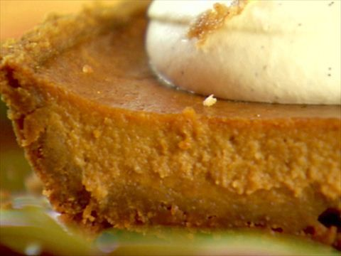 Bobby Flay's Pumpkin Pie with Cinnamon Crunch and Bourbon-Maple Whipped Cream Recipe : Bobby Flay : Food Network