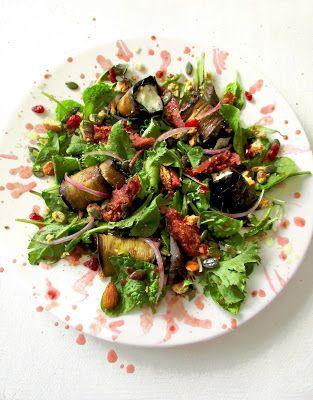 [Miam] Salade d'aubergines grillées au chèvre frais & figues rôties au tamarin - La femme à tête de chou @lafemmechou