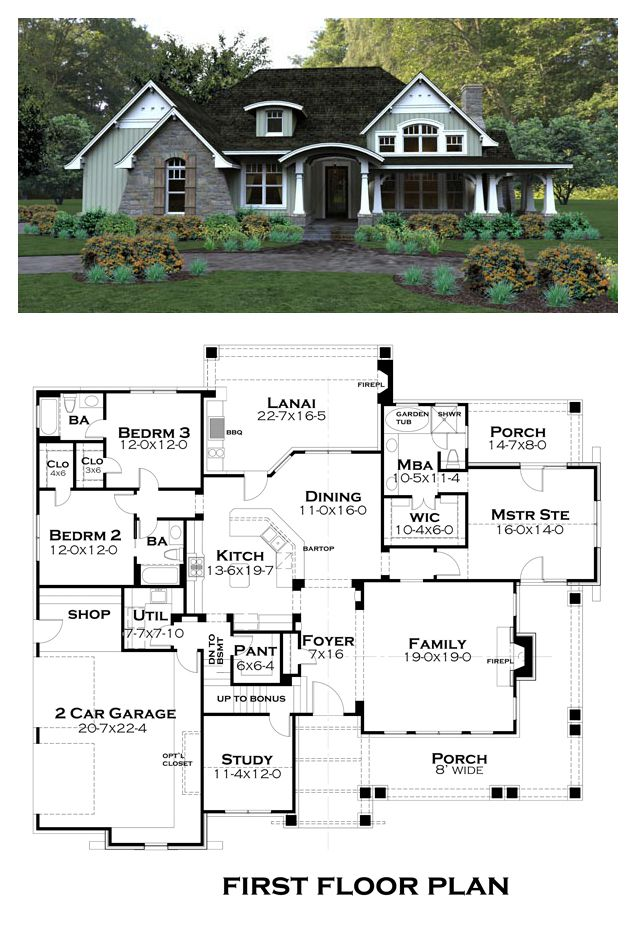 Tuscan House Plan 65875   Total Living Area: 2267 sq. ft., 3 bedrooms & 3 bathrooms. #tuscanstyle #houseplan