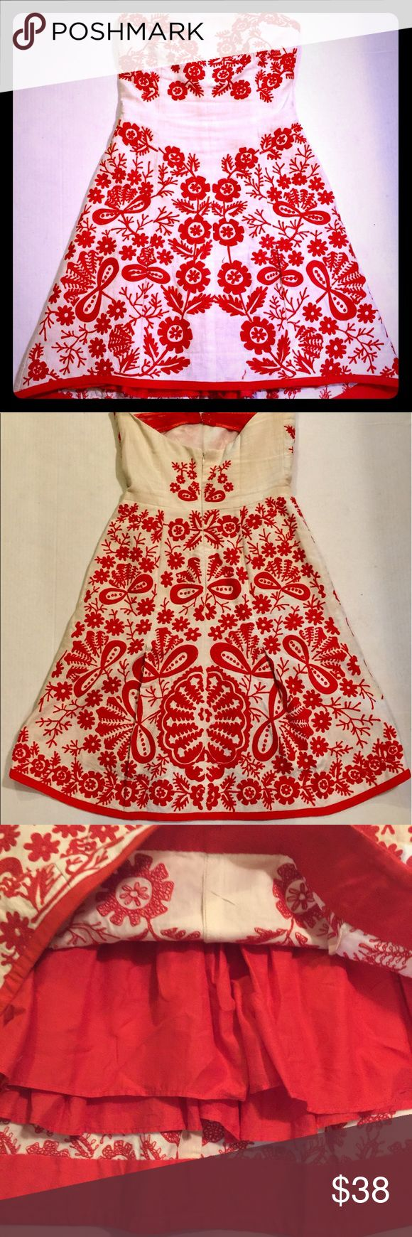 Rampage red lace harness dress