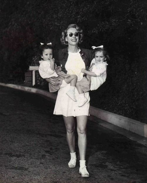 Joan Crawford and her daughters Cynthia and Cathy #GotItFromMyMama  @Kimberly Peterson Taylor @Beth J J Jones