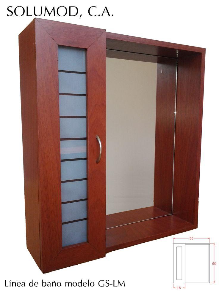 Modelo gs lm armario con espejo una repisa externa y dos for Puerta corrediza externa