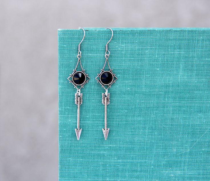 New to LovelyFleur on Etsy: Geometric Arrow Earrings Geometric Jewelry Tribal Jewelry Western Jewelry (18.00 USD)
