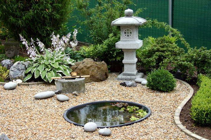 Un jardin japonais se compose de 5 éléments principaux :