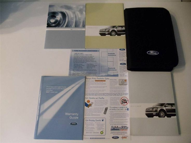 The 25 best ford owners manual ideas on pinterest 2007 ford edge owners manual book set fandeluxe Image collections
